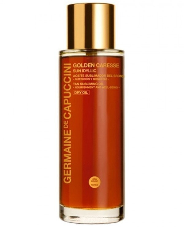 Germaine de Capuccini - Dry oil to maintain tan Golden Caresse Sun Idyllic Tan Subliming Oil