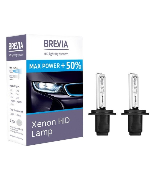 Brevia - Xenon lamps Max Power +50% H11 5500K 35W