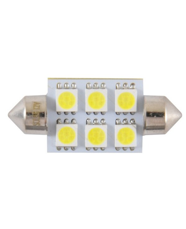 Solar - Car Alarm LED 12V SV8.5 T11x39 6smd 5050