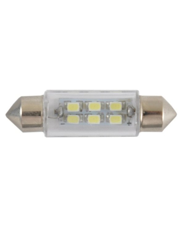 Solar - Autolamps LED 12V SV8.5 T11x39mm 6smd 3528 white