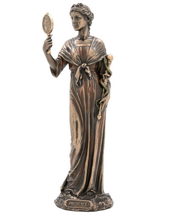 "Veronese - Figurine ""Cardinal virtues -"" Prudence ""(28 cm)"