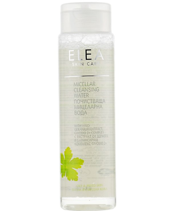 Elea Professional - Micellar water for oily and combination skin with geranium extract Micellar Cleansing Water with Wild Geranium Extract