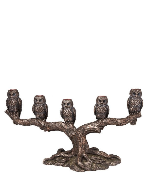 "Veronese Candlestick ""Owls"" (40 * 23 cm) 
