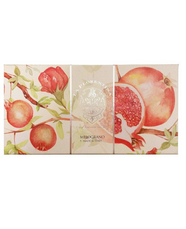 "La Florentina - A set of soap ""Pomegranate"" Melograno"