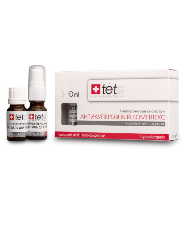 TETe Cosmeceutical - Hyaluronic acid + Antikuperozny complex Hyaluronic acid + Anticouperose complex