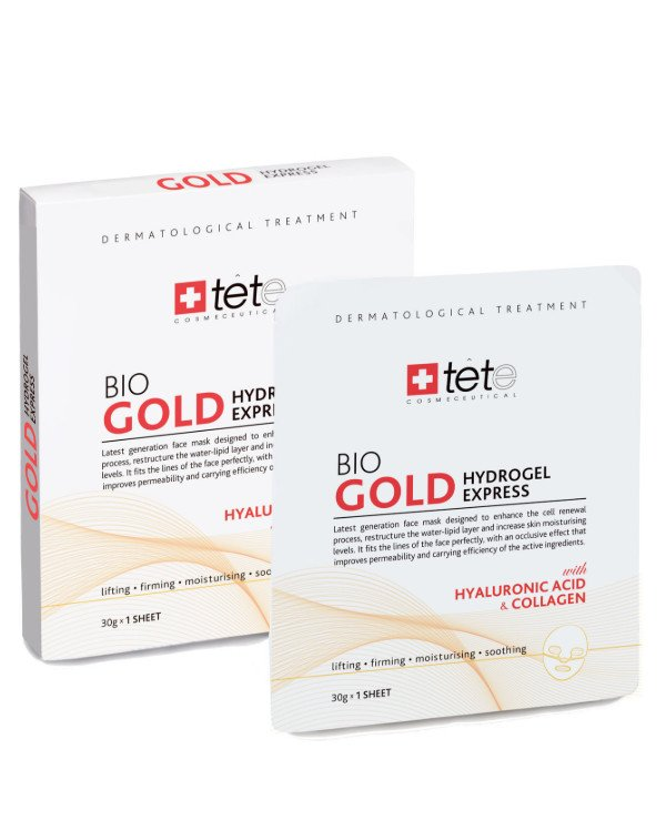 TETe Cosmeceutical - Collagen instant action mask with colloidal gold BIO Gold Collagen Mask